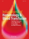 Indian Journal of||Hematology & Blood Transfusion