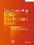 The Journal of ||Indian Prosthodontic Society