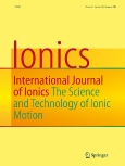 Ionics||International Journal of Ionics||The Science and Technology of Ionic Motion