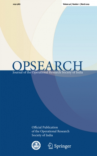 OPSEARCH Journal of the Operational Research Society of India